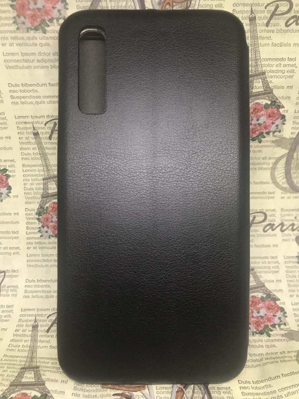 Чехол-книжка Samsung A30S 2019 (A307F) черный флип бампер накладка  на магните