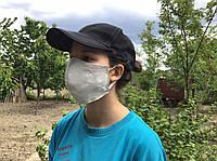 Маска ПИТТА на резинке, защитная медицинская многоразовая двухслойная маска, маска для лица, бежевая тканевая