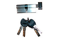Сердцевина для замка ZCK 70мм (35х35) с лазерн.ключами пов/ключ(12шт/уп) (сатин SN) (5кл)