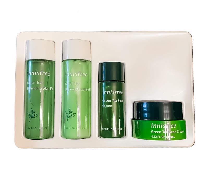 Набор миниатюр органической косметики с экстрактом зеленого чая Innisfree Green Tea Special Kit EX