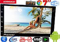 Автомагнитола Pioneer PI904 slim 2DIN,GPS, Android 8, 16GB,  2.5D стекло! Корея! гарантия 2 года!