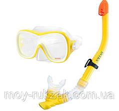 Набор для плавания: маска и трубка Intex 55847, от 8 лет, желтый