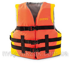 Спасательный жилет взрослый Intex 69681, от 40 кг, оранжевый