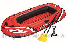 """Надувная двухместная лодка """"Hydro - Force Raft"""", с веслами и насосом, Bestway 61102, 232х115см, до 190кг"""