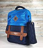 Школьный рюкзак ортопедический с пеналом для мальчика 1-5 класс, портфель, детский ранец для 7-8-9 лет, фото 8