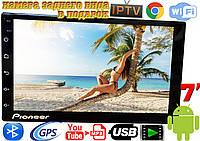 Автомагнитола Pioneer PI904 slim 2DIN,GPS, Android 8, 16GB,  2.5D стекло + камера в ПОДАРОК!
