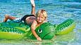 """Дитячий надувний пліт з ручками """"Морська Черепаха"""" для купання Intex 57524 NP (127*150 см), зелений, фото 3"""
