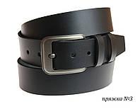 Мужской ремень из натуральной кожи от 115 до 150 см черный SULLIVAN