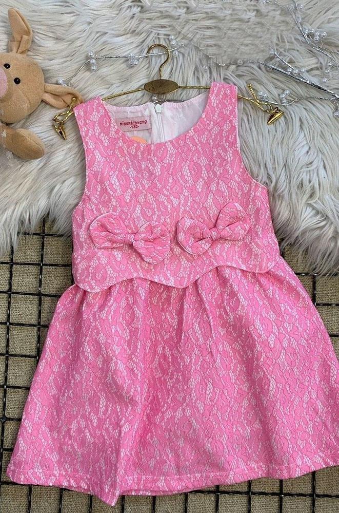 Платье детское розовое AAA 17008