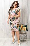 Легкое платье с коротким рукавом увеличенных  размеров 50-56, фото 2