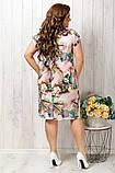Легкое платье с коротким рукавом увеличенных  размеров 50-56, фото 3
