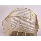 Клетка для птиц GEMMA Gold, 50*31*75 см, фото 4