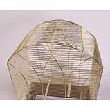 Клетка для птиц GEMMA Gold, 50*31*75 см, фото 5