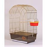 Клетка для птиц GEMMA Gold, 50*31*75 см, фото 6