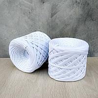 Трикотажная пряжа 7-9 мм,белый