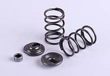 Клапанний механізм комплект (пружини, сухарі, теп.компенсатори на 2 клапана) — 168F
