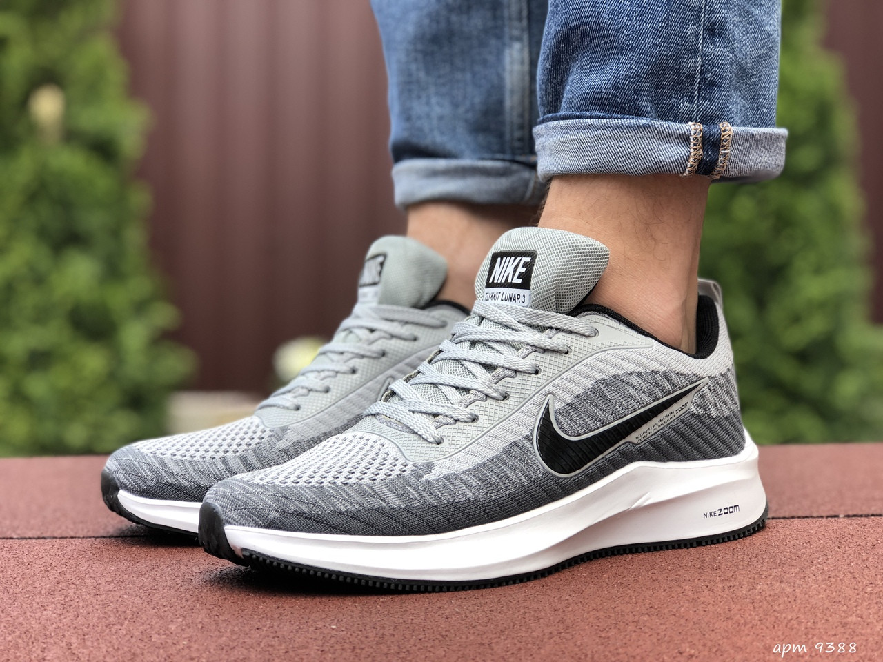 Кроссовки Nike Flyknit Lunar 3,светло серые
