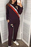 Спортивный костюм женский 001 фиолетовый