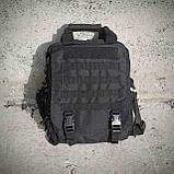 Тактическая сумка-рюкзак, мессенджер, портфель. Черный, фото 9