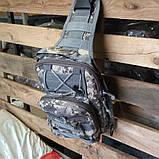 Тактическая сумка-рюкзак, барсетка, бананка на одной лямке, пиксель., фото 5