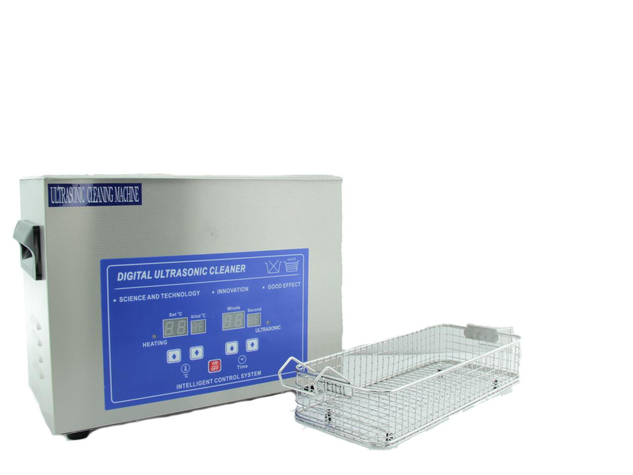 Ультразвуковая ванна мойка 3,2 л, с корзиной,  цифровая, с подогревом, Ultrasonic Cleaner Machine, S30