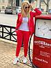 Женский стильный льняной брючный костюм размеры 42-54 красный, фото 5