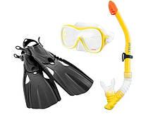 Набор 3 в 1 для плавания Intex 55658 (маска, трубка, ласты) от 8 лет