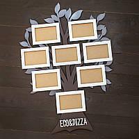 Семейное дерево  фотоколлаж из дерева