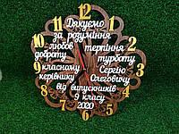 Именные деревянные часы учителю
