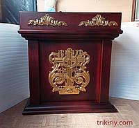 Cвечной столик из дерева 110х55см (цвет на заказ)