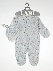 Чоловічок з шапочкою для новонародженого 56 см Larі (інтерлок), фото 2