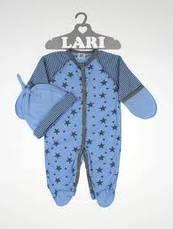 Чоловічок з шапочкою для новонародженого 56 см Larі (інтерлок), фото 3