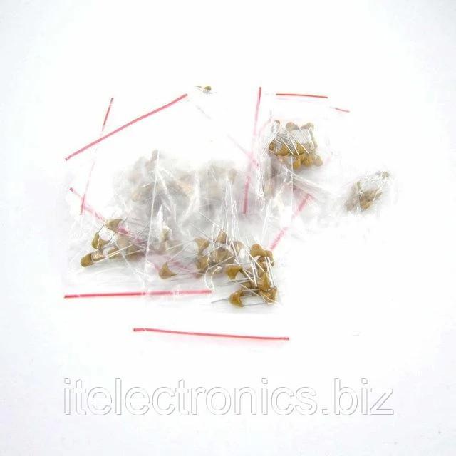 Конденсаторы керамические набор - 180 штук, 18 видов по 10 штук 20PF-105(1UF) 50В