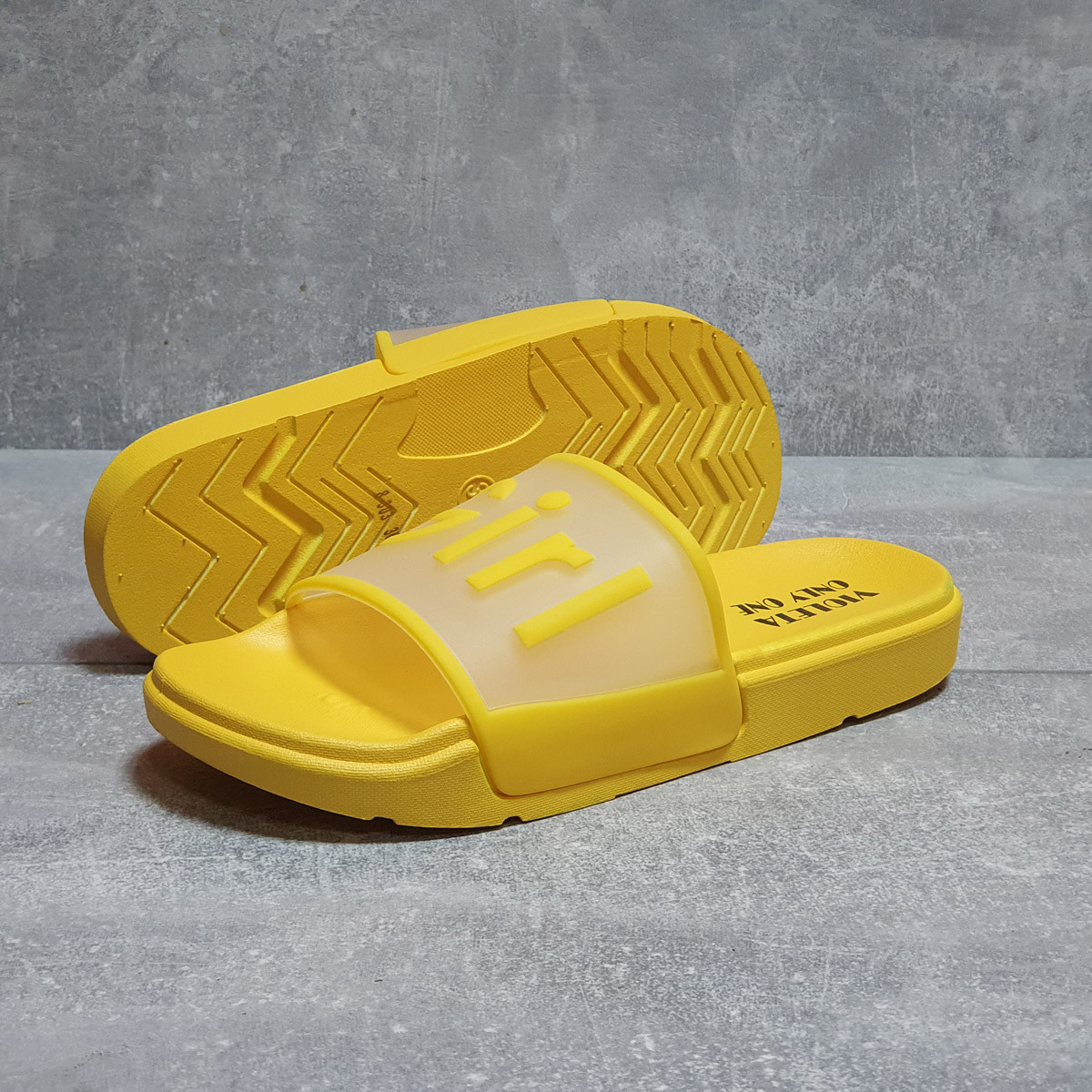 Шлепанцы женские 17467, Super Girl, желтые, < 36 41 > р. 36-22,7см.