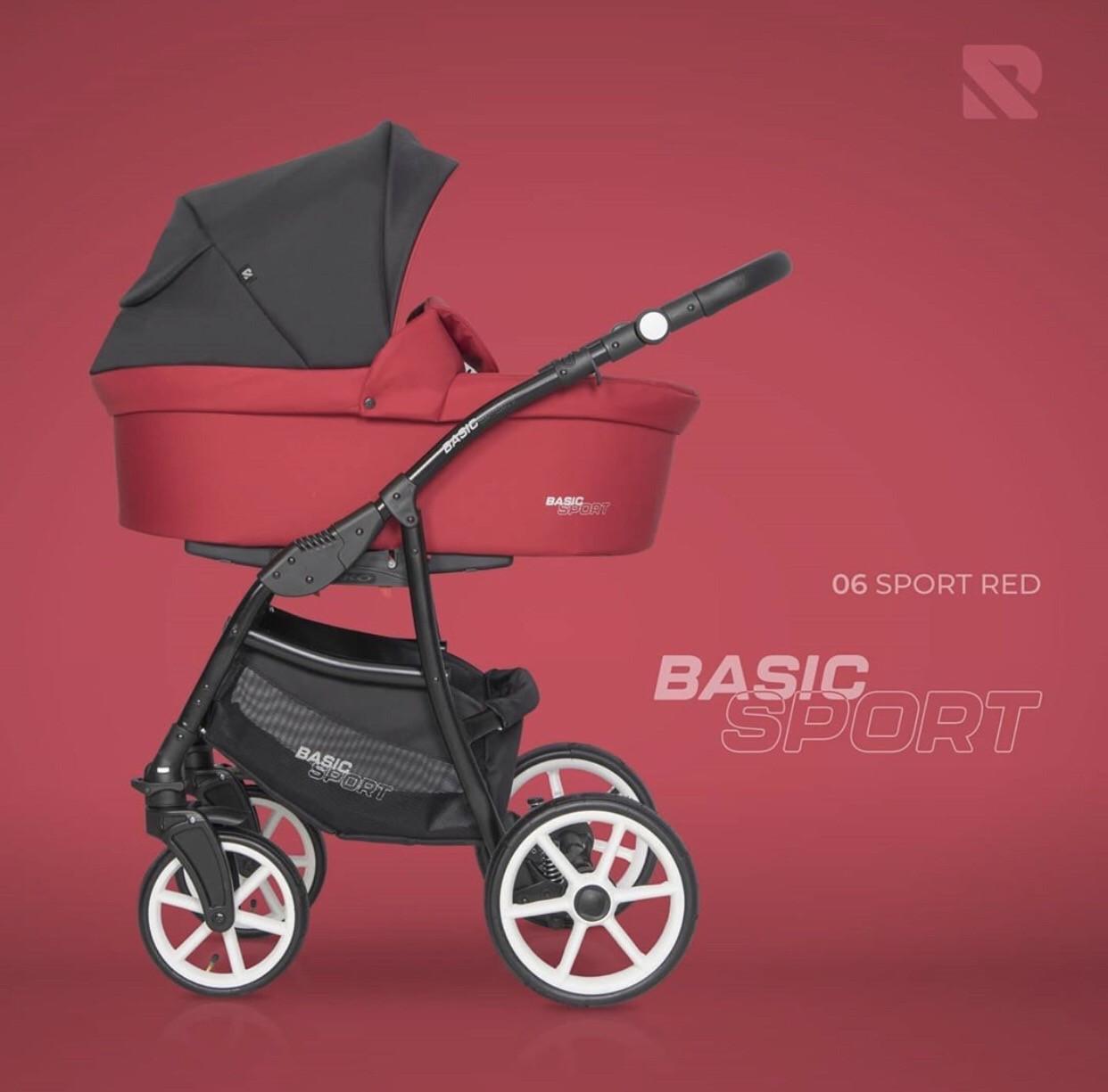 Детская универсальная коляска 2 в 1 Riko Basic Sport 06 Sport Red