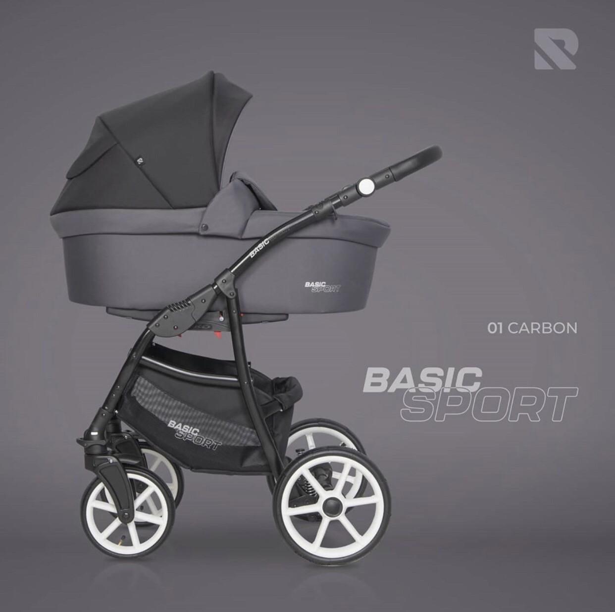 Дитяча універсальна коляска 2 в 1 Riko Basic Carbon Sport 01