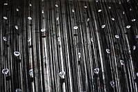 Шторы нити  черные с алмазными сердечками, фото 1