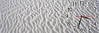 Необычные большие часы на стену декоративные  Белый песок 30х90 см