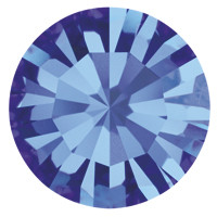 Пришивные стразы в цапах Preciosa (Чехия) ss20 Sapphire/золото