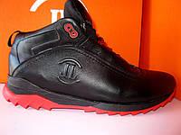 Мужские зимние кожаные ботинки на шнурке, фото 1