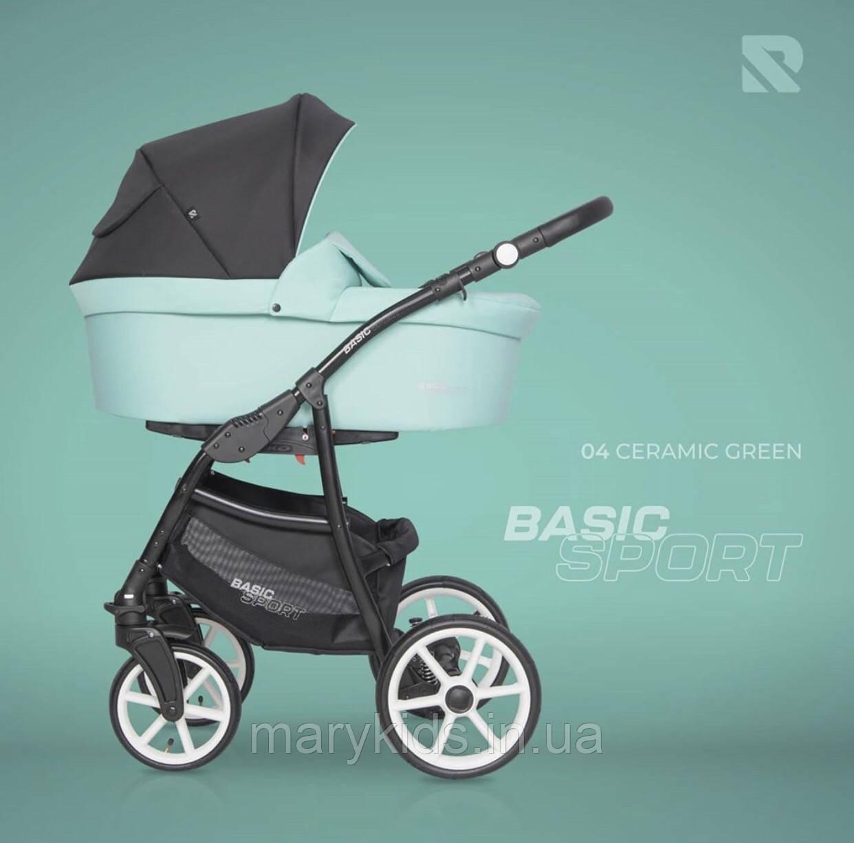 Дитяча універсальна коляска 2 в 1 Riko Basic Sport 04 Green Ceramic