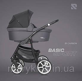 Детская универсальная коляска 2 в 1 Riko Basic Sport 01 Carbon