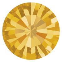 Пришивные стразы в цапах Preciosa (Чехия) ss47 Topaz/золото