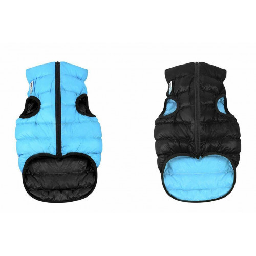 Двусторонняя куртка AiryVest S30 для собак, черно-голубая