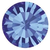 Пришивные стразы в цапах Preciosa (Чехия) ss29 Sapphire/золото