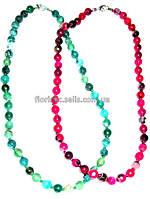 Ожерелье из зеленого агата