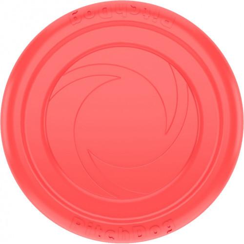 Игровая тарелка PitchDog для апортировки, розовая, диаметр - 24 см