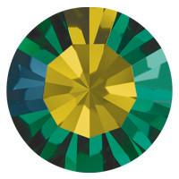 Пришивные стразы в цапах Preciosa (Чехия) ss40 Emerald AB/серебро
