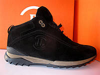 Мужские зимние ботинки из замши на шнурке