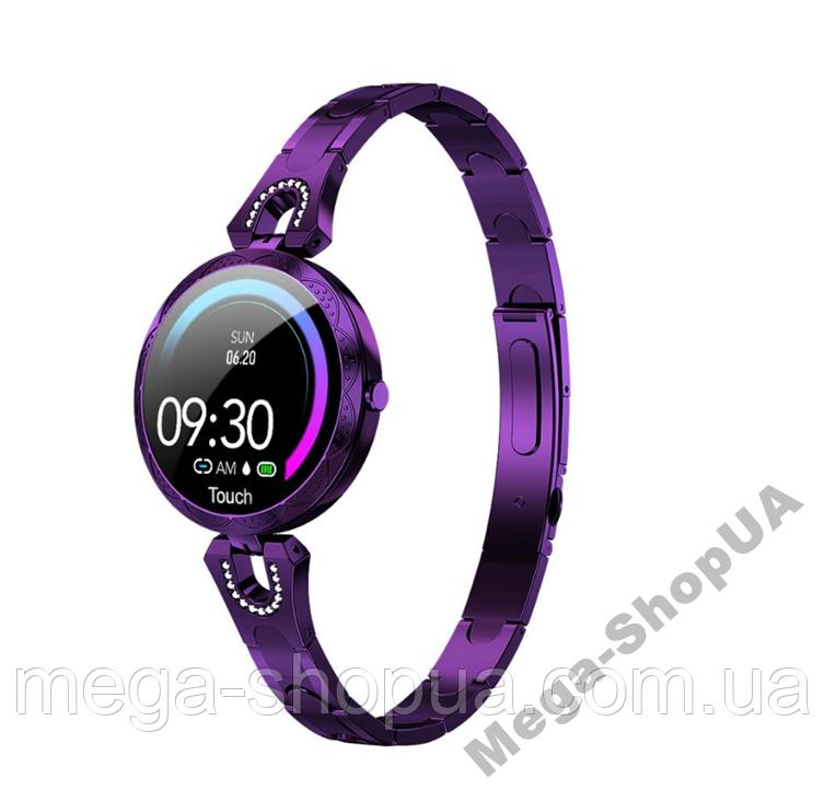 Смарт-часы Smart Watch YU878-1 Violet, спорт часы, умные часы, наручные часы, фитнес браслет, фитнес трекер
